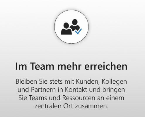 Microsoft 365 Business - Im Team mehr erreichen