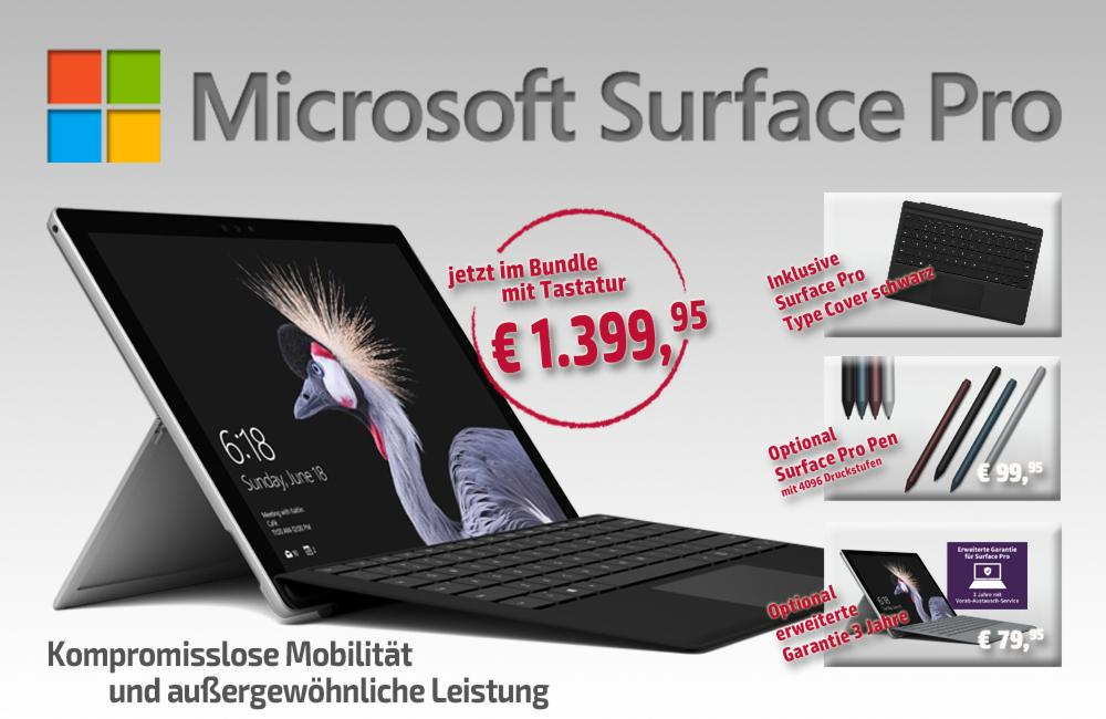 Microsoft-Surface-Pro-Bundle Aktion