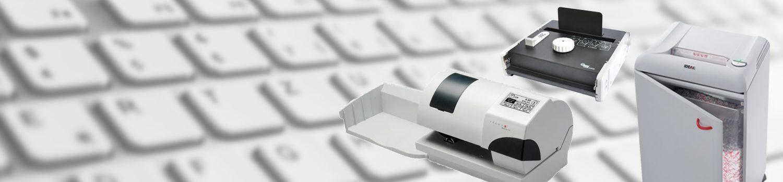 Papierverarbeitung, Bindegeräte, Schredder, Falzmaschine